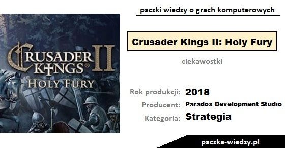 Crusader Kings II: Holy Fury ciekawostki