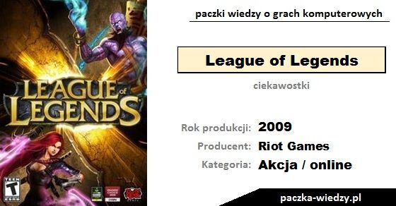 League of Legends ciekawostki