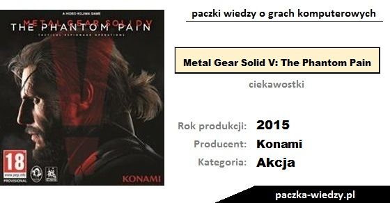 Metal Gear Solid V: The Phantom Pain ciekawostki