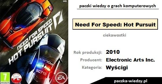 Need For Speed: Hot Pursuit ciekawostki