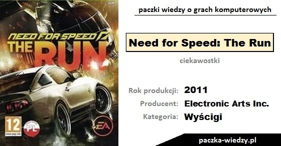 Need for Speed: The Run ciekawostki