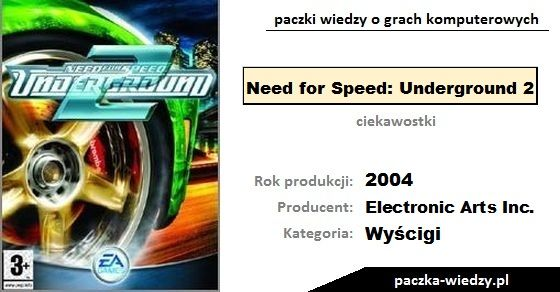 Need for Speed: Underground 2 ciekawostki