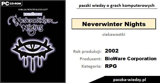Neverwinter Nights ciekawostki