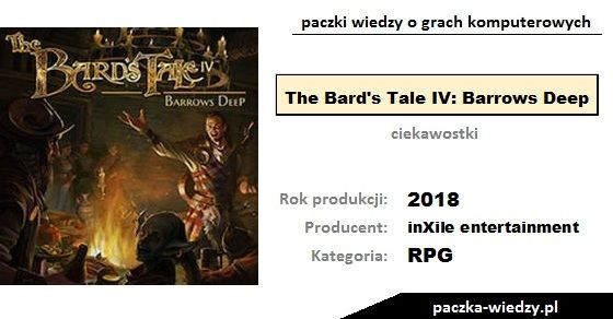 The Bard's Tale IV: Barrows Deep ciekawostki