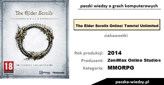 The Elder Scrolls Online: Tamriel Unlimited ciekawostki