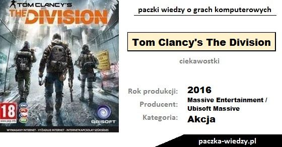 Tom Clancy's The Division ciekawostki