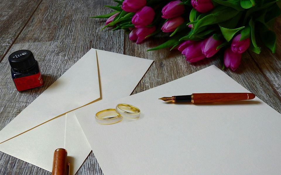 zaproszenia ślubne grafika