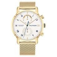 Złoty, męski zegarek Tommy Hilfiger Kane